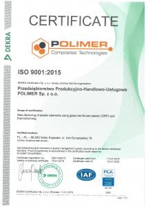 Certyfikat ISO 9001 eng